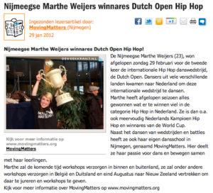 Hip Hop kinderen, breakdance Nijmegen