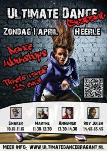 Hip Hop workshops, Flyer Ultimate Dance Brabant