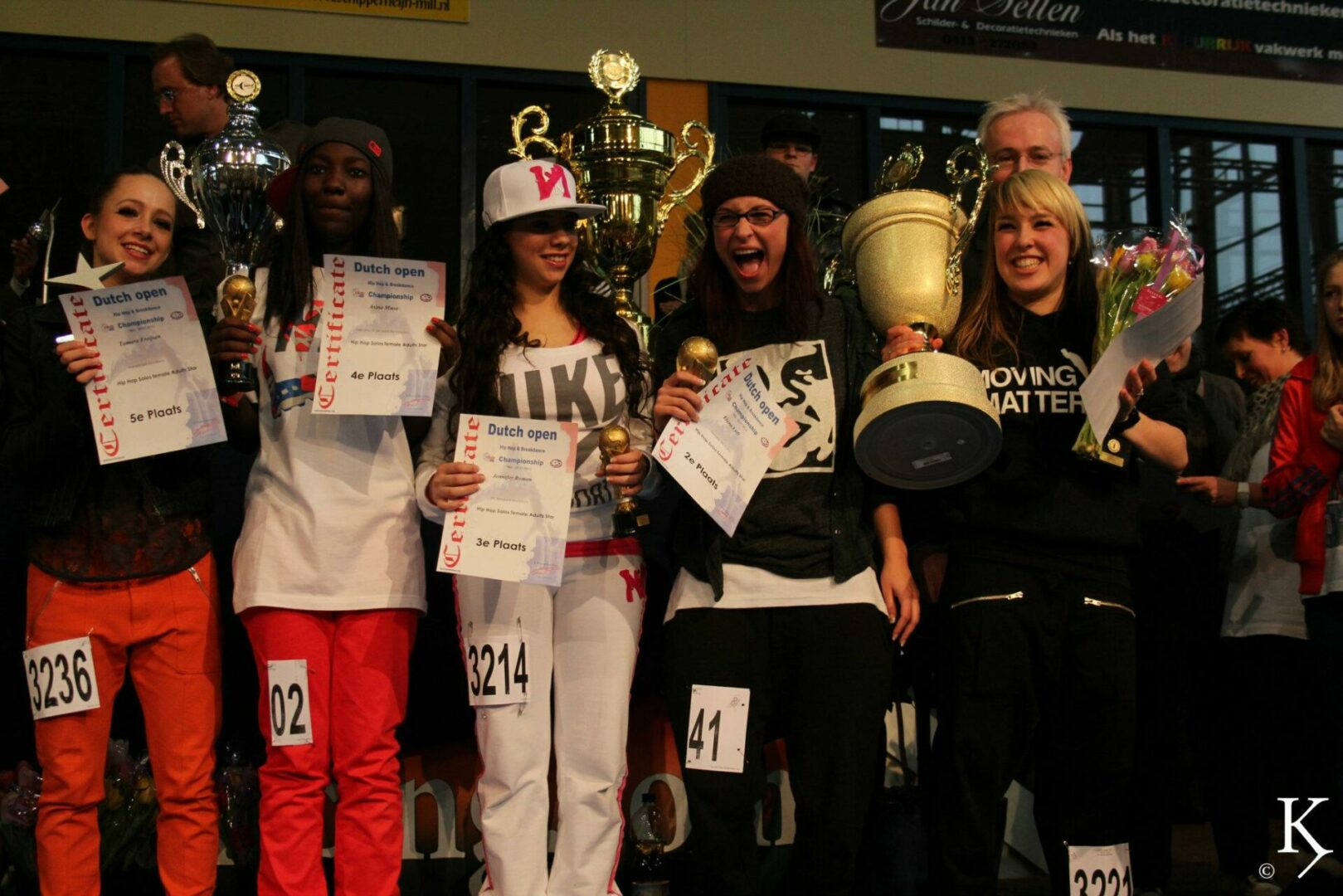 Dansles Nijmegen danslessen dansschool Hip Hop urban breakdance foto winnares Dutch Open Marthe Weijers