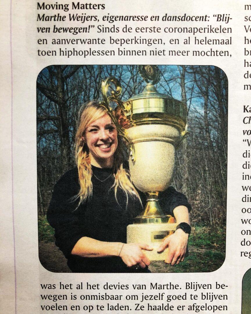 Dansen in Lent, Nederlands Kampioen Marthe Weijers, Stelt Waalsprong