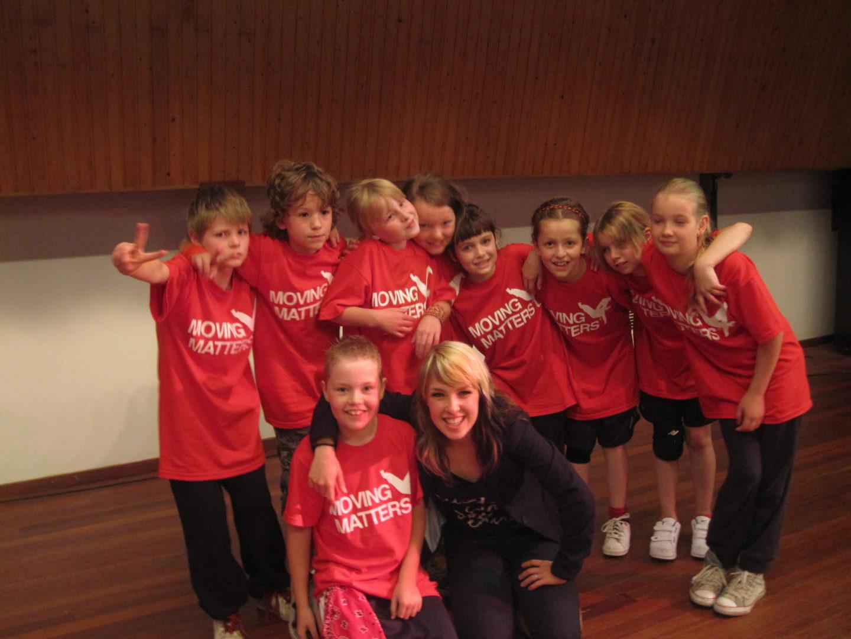 Streetdance kinderen, show MovingMatters Nijmegen, jongens en meisjes