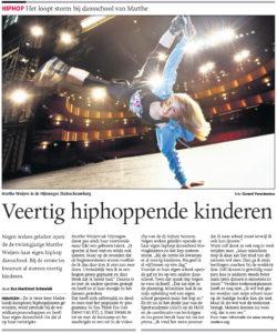 hiphop kinderen, interview show schouwburg krant