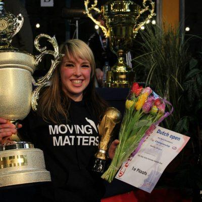 Dansen Nijmegen winnares beker Dutch Open 1ste plek eerste kampioen meisjes dansen Dansen Bemmel